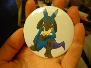Pretty Buttoner: Lucario