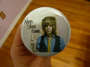 Pretty Buttoner: Custom Never Shout Never Button