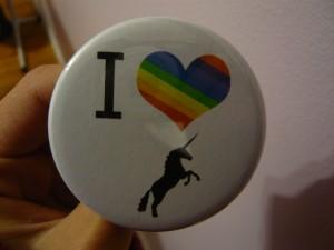 Pretty Buttoner: I Love Unicorns Custom Button