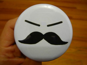 Pretty Buttoner: Moustache Face Button
