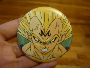 Pretty Buttoner: Majin Vegeta Custom Button