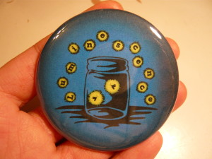 Pretty Buttoner:  Custom Luminescence Art Show Logo Button