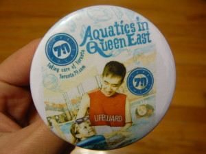 Pretty Buttoner: Aquatics in Queen East Custom Button