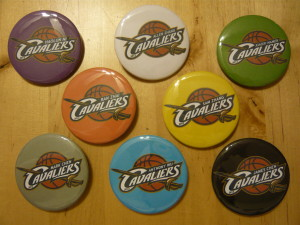 Pretty Buttoner: Cavaliers Intramural Basketball Team Button Set