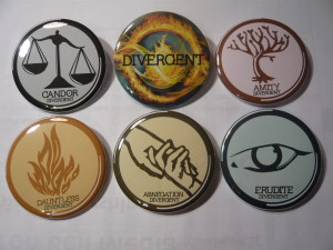Pretty Buttoner: Divergent Faction Button Set