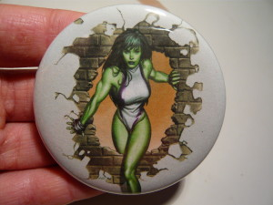 Pretty Buttoner: Custom She-Hulk Button