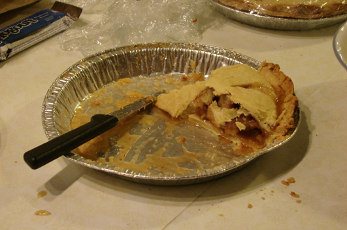 The inevitable demise of a Mary's Good Eats apple pie. Delicious.