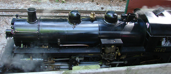 Richmond Hill Live Steamers, Canadian Pacific locomotive no. 3742 just pulled into the station