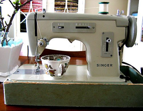 Singer model 217, ~1960s: Simple and reliable, and always ready for me.