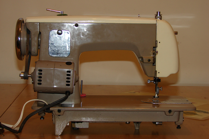 Imperial sewing machine, model 535: back. All electrics are Canadian made and certified CSA