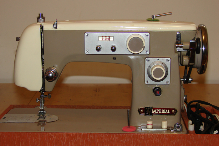 Imperial sewing machine, model 535: Front. I am looking for an owner's manual and information about this machine