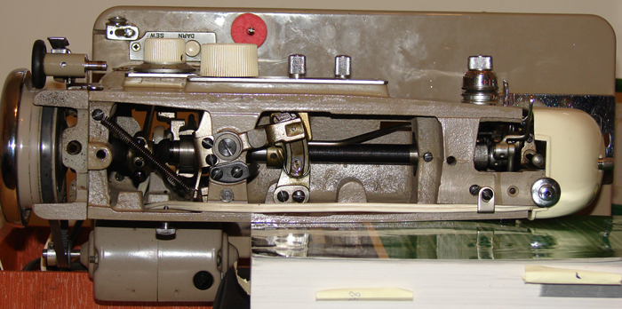 Imperial sewing machine, model 535: Top. No casting markings