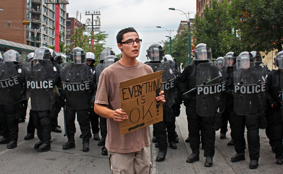 Toronto Riot Police and protester: Everything is not Ok