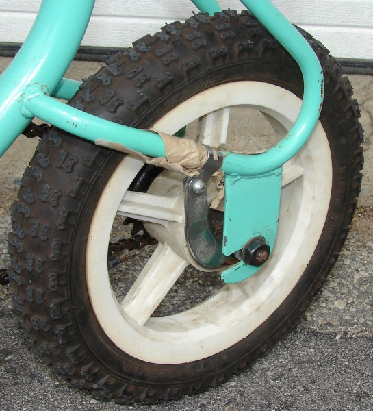 Daou Unicycle: Rear Wheel assembly, marked Made in China