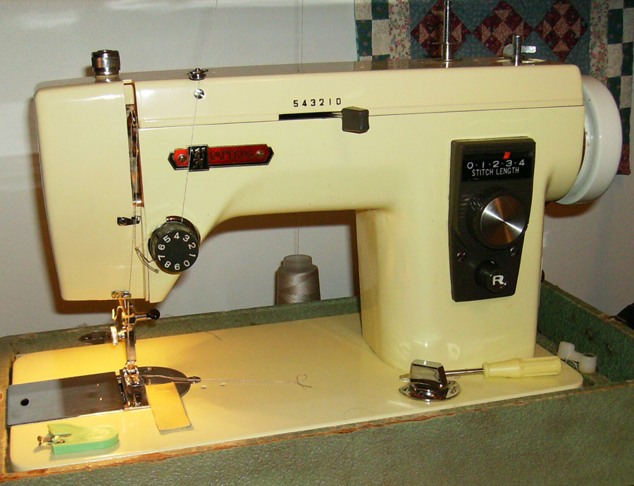 Imperial sewing machine, model 535, as depicted in the user manual.