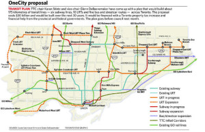 OneCity proposal for the TTC, Toronto, Canada. Will this reduce congestion? I think not.