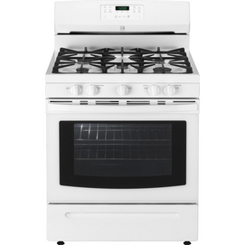 Kenmore®/MD 30'' Freestanding Self-Clean Gas Range in White, from Sears. It works very well.