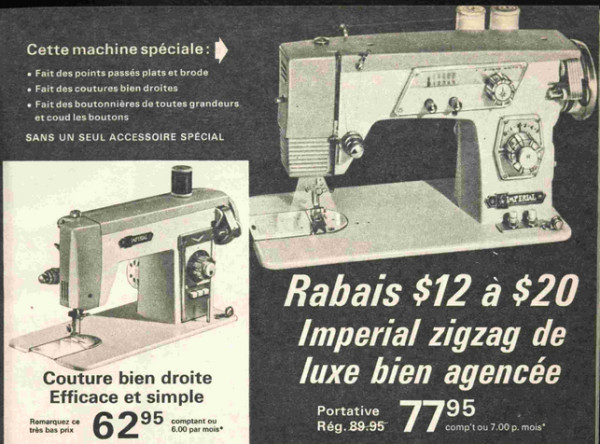 Imperial sewing machines, Eaton Autumn 1967, pp313