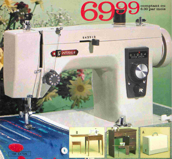 Imperial sewing machines, Eaton Autumn 1971, pp156