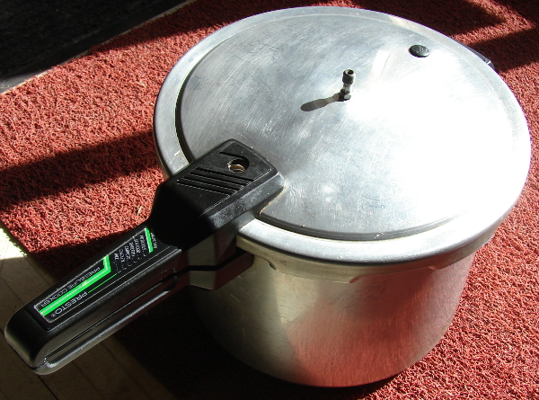 Presto pressure cooker, model 126002, still good after 20+ years. Photo by Don Tai