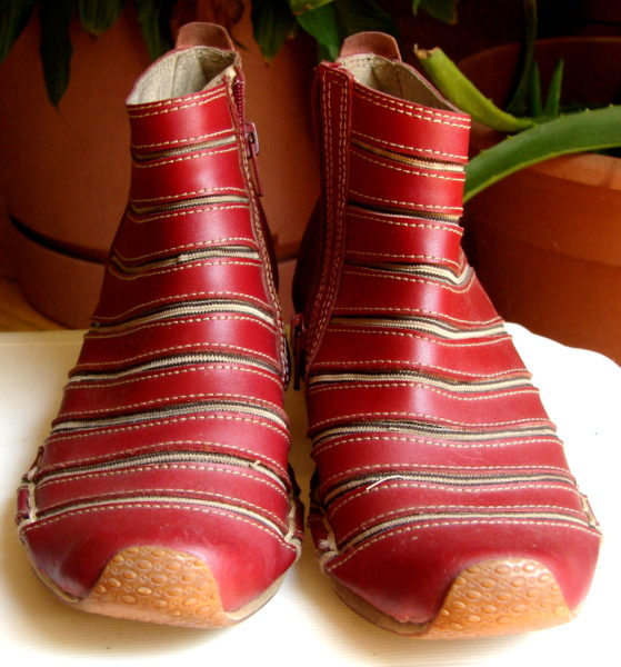 LGL leather shoes, model 369-3, oxblood leather and elastic. Front view, Toronto, Canada Photo 2 by Don Tai