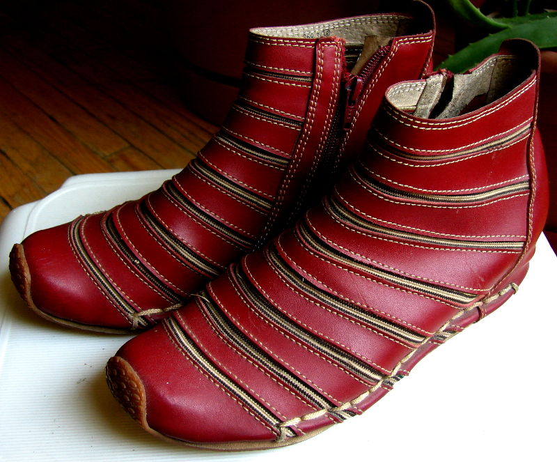 LGL leather shoes, model 369-3, oxblood leather and elastic. Left view. Toronto, Canada Photo 3 by Don Tai