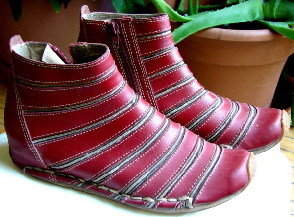 LGL leather shoes, model 369-3, oxblood leather and elastic. Right view. Toronto, Canada Photo 1 by Don Tai