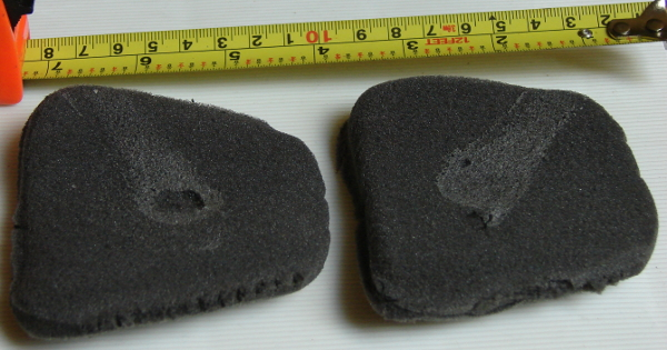 Vans Hawaiian Ocean tongue foam is 1.3mm thick and very large. We removed it. Photo 1 by Don Tai
