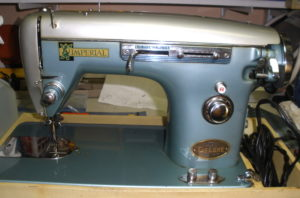 Imperial Deluxe Zigzag sewing machine, front view, Powell River, BC, Canada