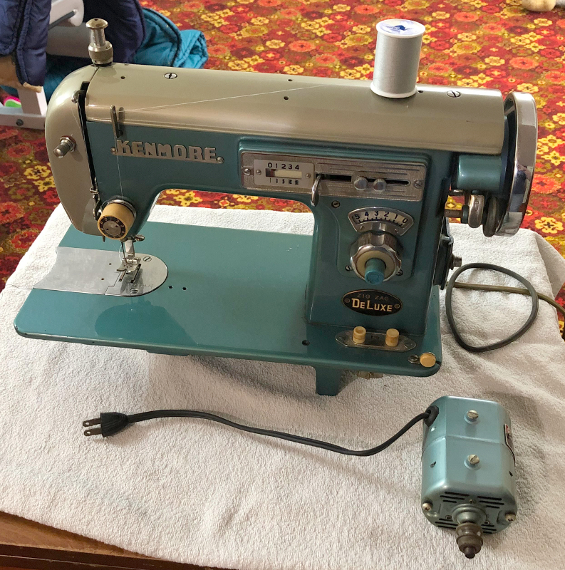 Kenmore Zig Zag Deluxe sewing machine, from Donald Marcellus. I estimate this machine to be from 1965 or so. It bears a striking resemblance to the Imperial Zig Zag Deluxe sewing machine. Nice looking machine. Photo 2 by Donald Marcellus
