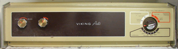 Viking Auto Dryer by the T. Eaton Company, 1995, front control panel. Photo by Don Tai
