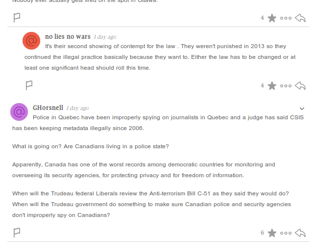 Globe and Mail newspaper, comments, new version, is hip and flashy but less readable. I prefer readable over flashy.