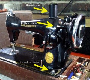 Vintage Paramount sewing machine: How to fill the bobbin