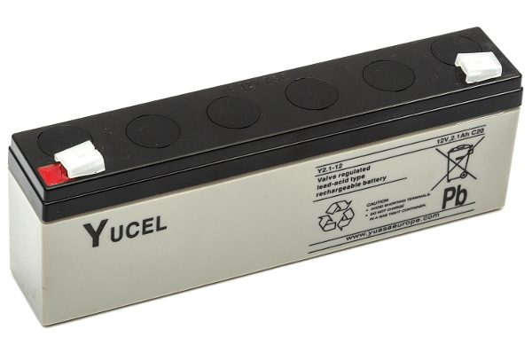Possible match for the Yuasa battery used by the Manchester Bomber, 12v 2.1aH lead acid.