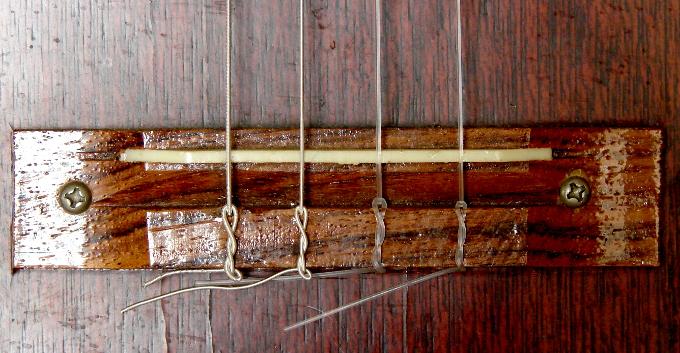 Tempo baritone ukelele, unknown origin or date, bridge, Toronto, Canada. Photo 4 by Don Tai