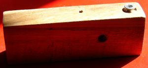 Very simple jig to cut tight dadoes: just a rectangular piece of wood and a metal screw. Photo 1 by Don Tai