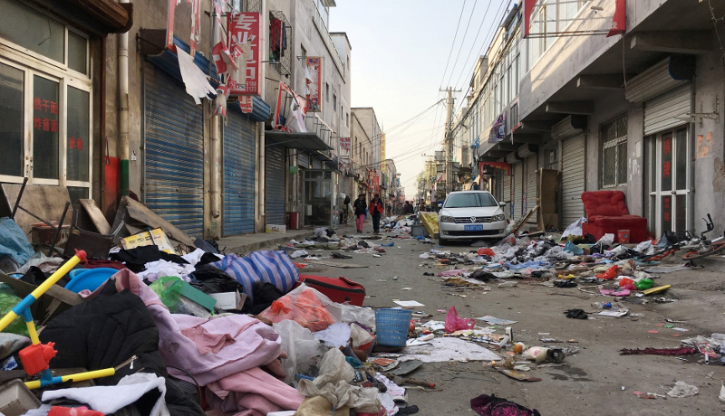 China, Beijing, Daxing, Xinjian Cun, where the government has destroyed the neighborhood of migrant workers and evicted everyone. Reuters
