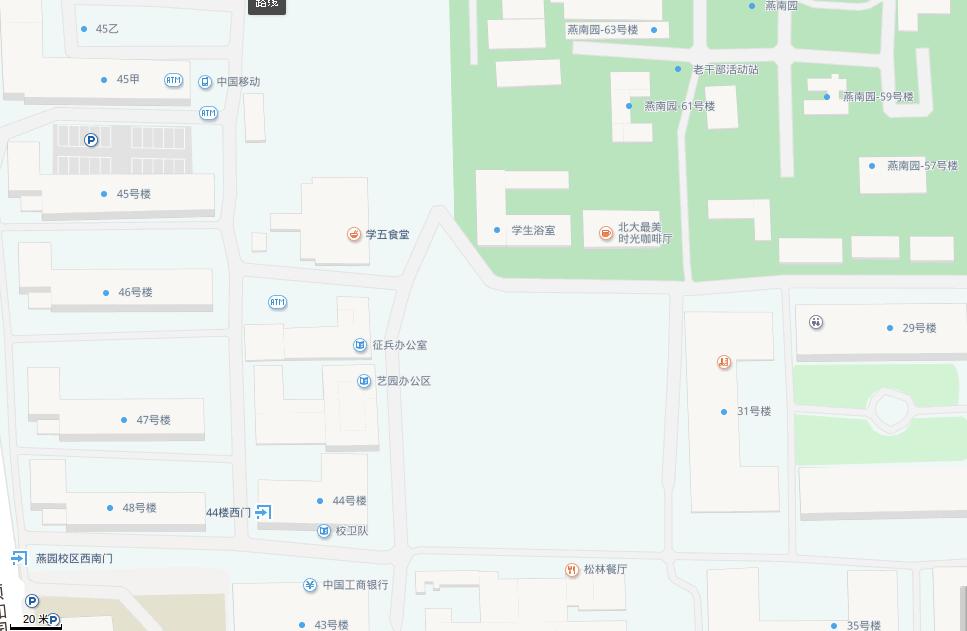 Baidu maps, Beijing University area.