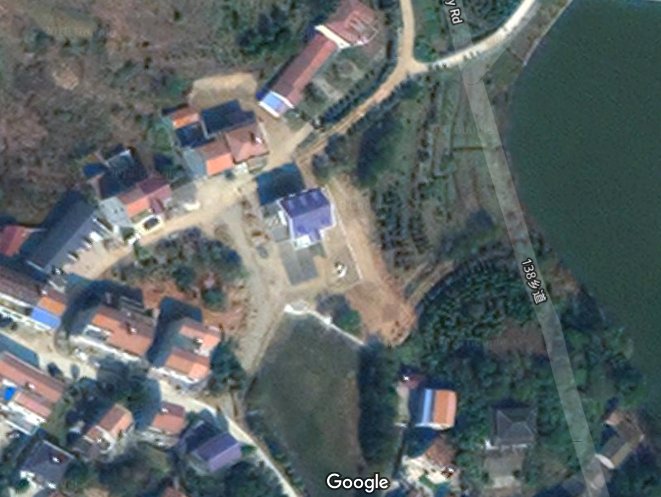 Wuhan, Meidian Reservoir 梅店水库, east to Yaoyaji 姚家集, and then north north east 7 km is Liji Cun 李集村. Google Sat map 8P3P7CG5+73