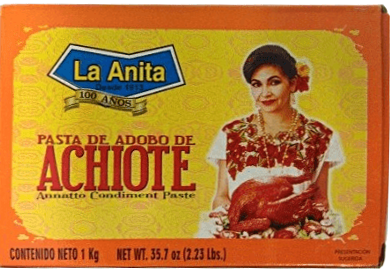 Achiote paste: A unique Mexican flavour, but if it dries to a brick, is very difficult to break back down to a paste.