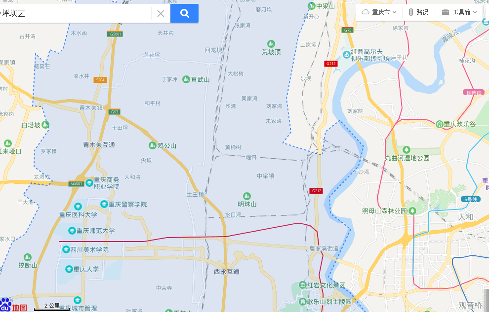 Chongqing, China, 重庆,Shapingba District, 沙坪坝区 Baidu Maps