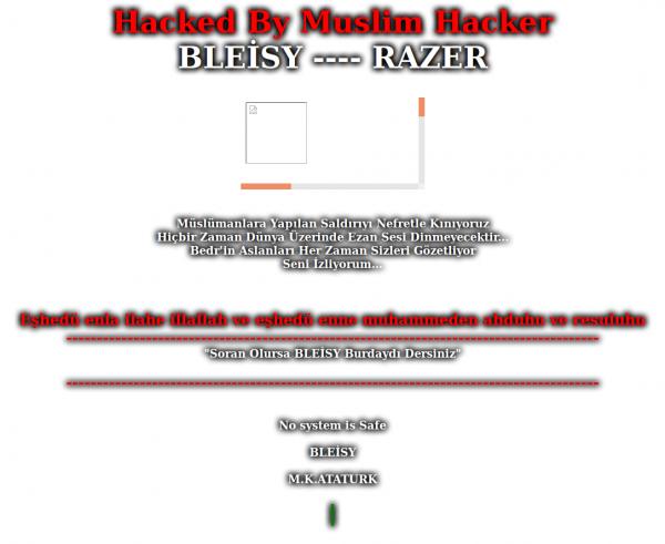 Hacked By Muslim Hacker, Hacked By BLEİSY, screen cap, WordPress