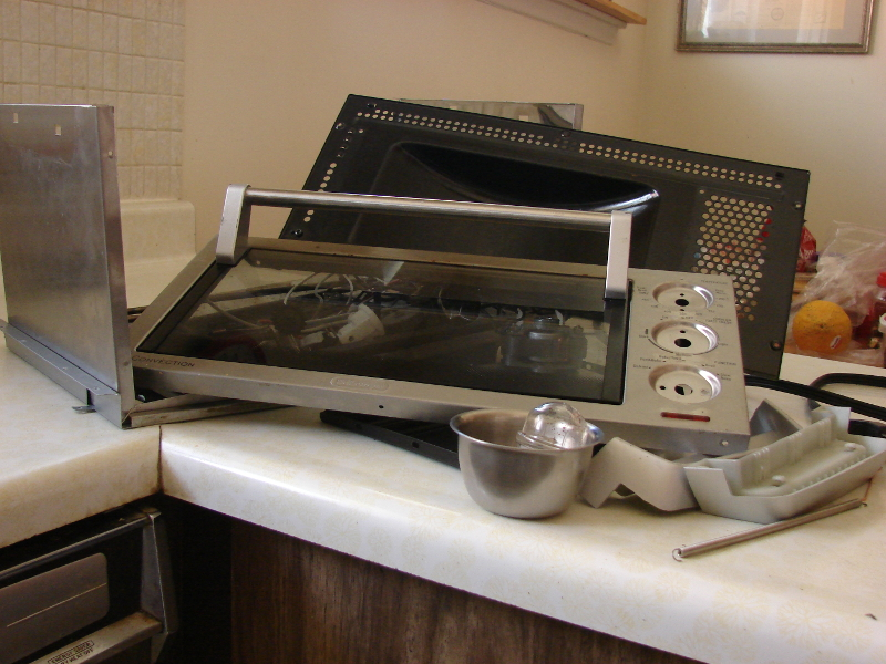 Delonghi Convection Oven EO1270, complete disassembly. Photo by Don Tai