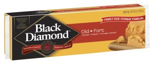 Black Diamond Cheddar. How long is old cheddar aged? How about the extra old? I asked but did not get an answer.