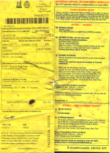 Toronto parking ticket, 31 Ellis Ave, no parking Dec 1-Mar 31
