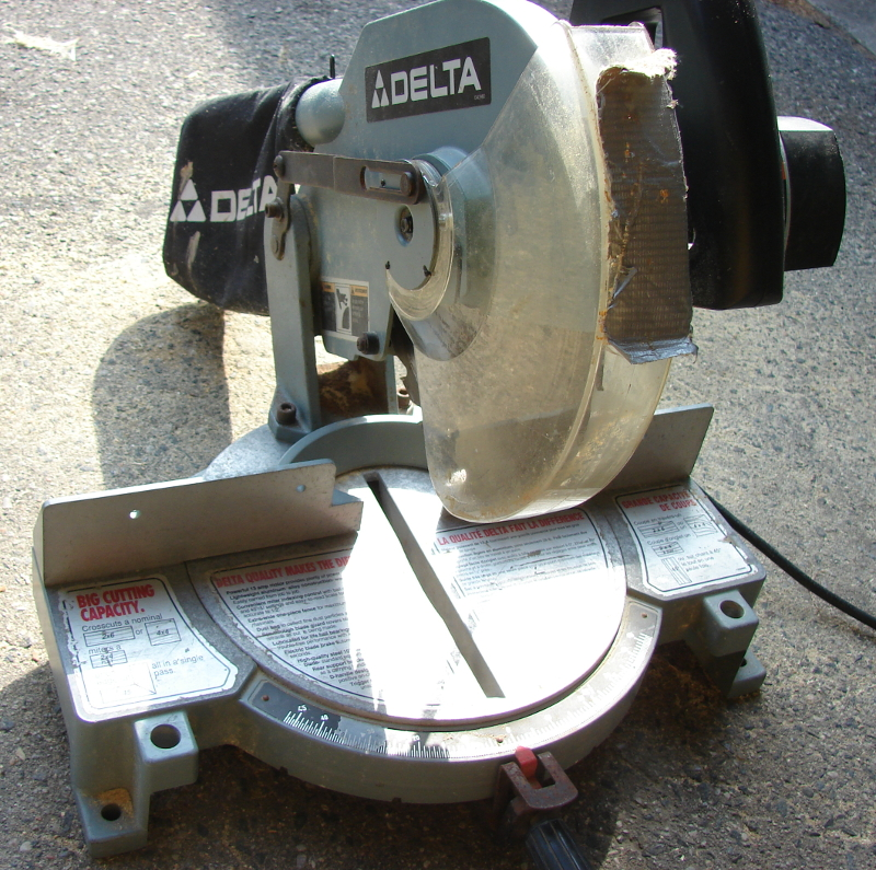 Delta Miter Saw 36-070c Blade Guard Repair. Photo by Don Tai