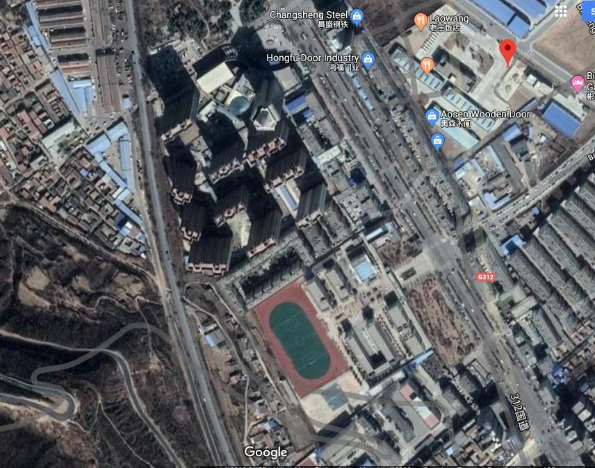 Xi'An Shaanxi China, BinZhou City, ChengGuan,ZiWei Middle School and Jiaotong university Senior Sunshine Middle School, 7, Satmap, Map by Google