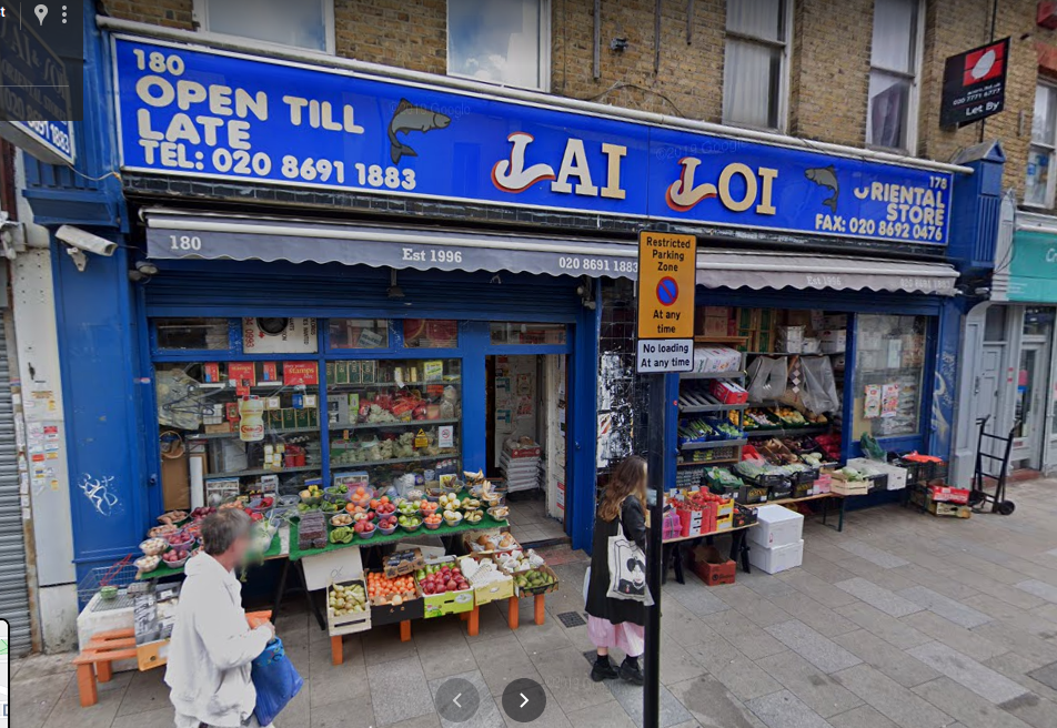 UK, London, just north is the La Loi Oriental store, 161 Deptford High St, Deptford, London, SE8 3NU, After School Center ASC, GPS: 51.479438,-0.026188, Plus Code: 9C3XFXHF+QG
