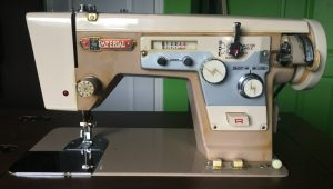 Imperial Sewing machine Model 171, front view.