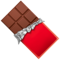 Chocolate emoji: I could not find an appropriate chocolate emoji for QQ, so I shrunk a larger image down to 32x32 saved in png format, transparent background, and imported it into QQ. Original large image.